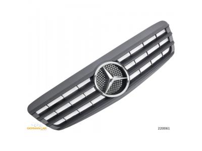 Решётка радиатора от Germanparts Matt Black Var2 на Mercedes S класс W220
