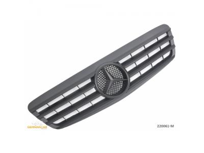 Решётка радиатора от Germanparts Matt Black на Mercedes S класс W220