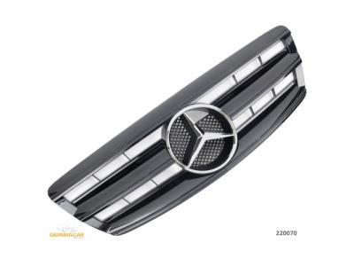 Решётка радиатора AMG Look Glossy Black на Mercedes S класс W220 рестайл