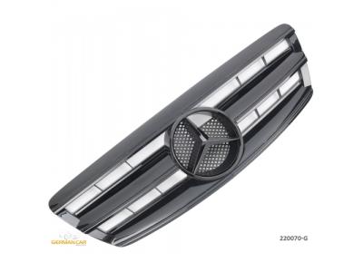 Решётка радиатора AMG Look Glossy Black Var2 на Mercedes S класс W220 рестайл