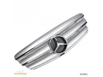 Решётка радиатора AMG Look Silver Chrome на Mercedes S класс W221