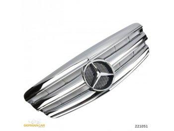 Решётка радиатора AMG Look Chrome на Mercedes S класс W221