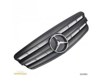 Решётка радиатора AMG Look Matt Black от GermanParts на Mercedes S класс W221