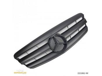 Решётка радиатора AMG Look Matt Black Var2 от GermanParts на Mercedes S класс W221
