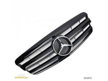 Решётка радиатора AMG Look Glossy Black от GermanParts на Mercedes S класс W221