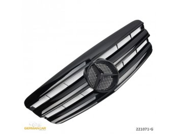 Решётка радиатора AMG Look Glossy Black Var2 от GermanParts на Mercedes S класс W221