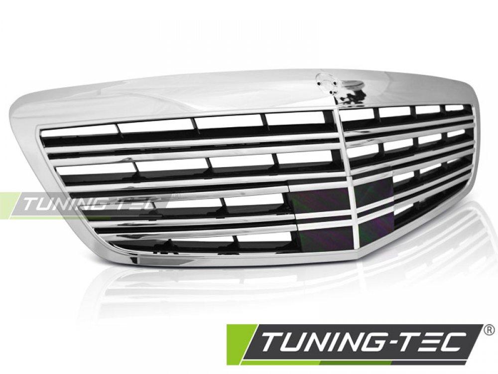 Решётка радиатора S65 AMG Look под дистроник от Tuning-Tec на Mercedes S класс W221 рестайл