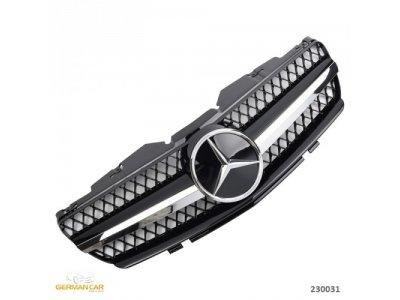 Решётка радиатора AMG SL65 Look Black Chrome на Mercedes SL класс R230