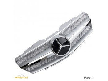 Решётка радиатора AMG SL65 Look Silver Chrome на Mercedes SL класс R230