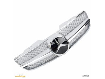 Решётка радиатора AMG SL65 Look Chrome на Mercedes SL класс R230 рестайл