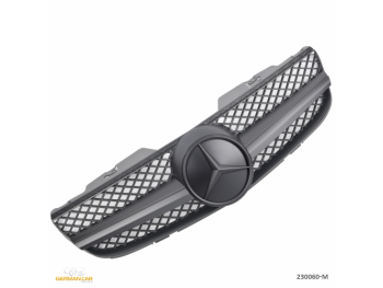 Решётка радиатора AMG SL65 Look Matt Black на Mercedes SL класс R230 рестайл