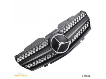 Решётка радиатора AMG SL65 Look Matt Black Var2 на Mercedes SL класс R230