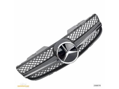 Решётка радиатора AMG SL65 Look Glossy Black на Mercedes SL класс R230 рестайл