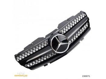 Решётка радиатора AMG SL65 Look Glossy Black на Mercedes SL класс R230