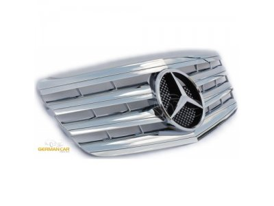 Решётка радиатора AMG Look Chrome на Mercedes E класс W211 рестайл