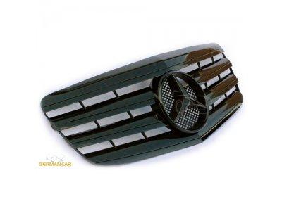 Решётка радиатора AMG Look Glossy Black Var2 на Mercedes E класс W211 рестайл