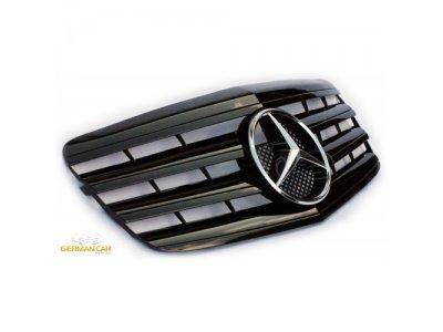 Решётка радиатора AMG Look Glossy Black на Mercedes E класс W211 рестайл