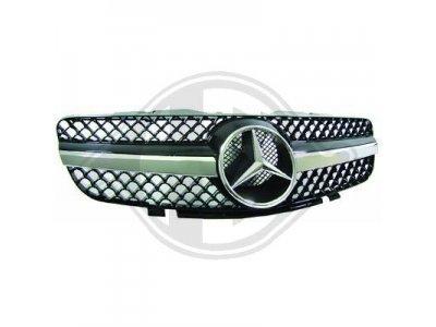 Решётка радиатора от HD AMG SL65 Look Black Chrome на Mercedes SL класс R230