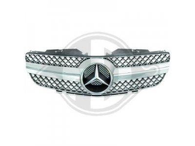 Решётка радиатора от HD AMG SL65 Look Silver Chrome на Mercedes SL класс R230