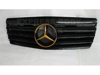 Решётка радиатора со звездой Black Gold на Mercedes S класс W140