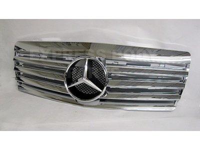 Решётка радиатора со звездой Chrome на Mercedes S класс W140