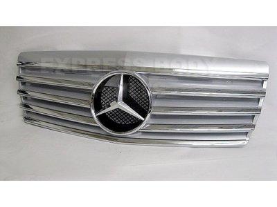 Решётка радиатора со звездой Silver на Mercedes S класс W140