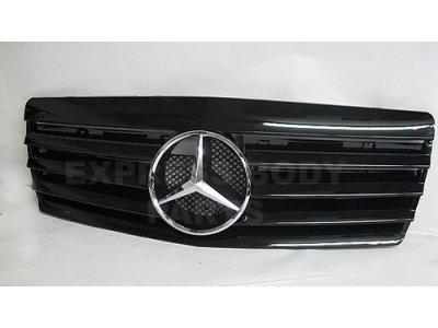 Решётка радиатора со звездой Black на Mercedes S класс W140