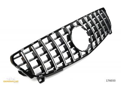 Решётка радиатора Black Chrome GT Look от GP на Mercedes A класс W176 рестайл