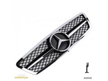 Решётка радиатора AMG Look Black Chrome на Mercedes C класс W203