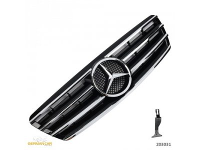 Решётка радиатора CL AMG Look Black Chrome на Mercedes C класс W203