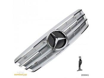 Решётка радиатора CL AMG Look Silver на Mercedes C класс W203