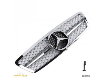 Решётка радиатора AMG Look Chrome на Mercedes C класс W203