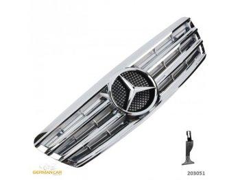 Решётка радиатора CL AMG Look Chrome на Mercedes C класс W203
