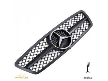 Решётка радиатора AMG Look Glossy Black на Mercedes C класс W203