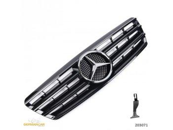 Решётка радиатора CL AMG Look Glossy Black на Mercedes C класс W203