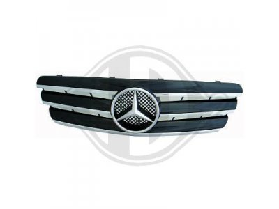 Решётка радиатора со звездой Black Chrome на Mercedes C класс W203