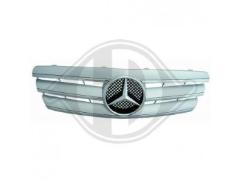 Решётка радиатора со звездой Silver Chrome на Mercedes C класс W203