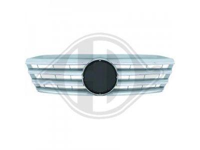 Решётка радиатора Silver Chrome CL Look на Mercedes C класс W203