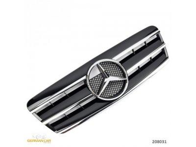 Решётка радиатора AMG Look Black Chrome на Mercedes CLK класс W208