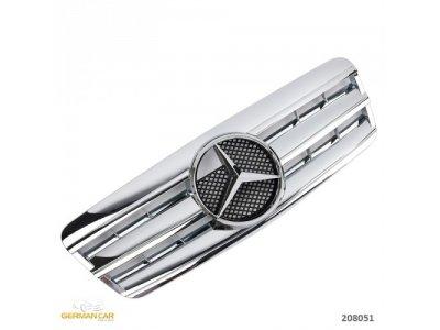 Решётка радиатора AMG Look Chrome на Mercedes CLK класс W208