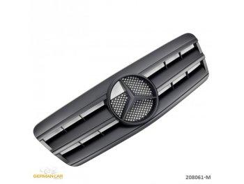 Решётка радиатора AMG Look Full Matt Black на Mercedes CLK класс W208