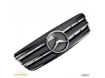 Решётка радиатора AMG Look Glossy Black на Mercedes CLK класс W208