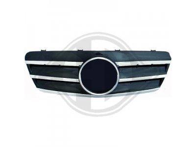 Решётка радиатора под звезду Black Chrome на Mercedes CLK класс W208