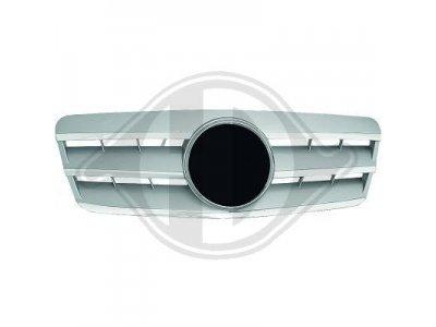 Решётка радиатора под звезду Silver Chrome на Mercedes CLK класс W208