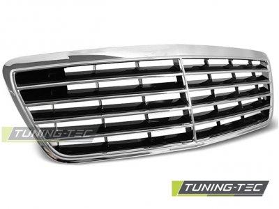 Решётка радиатора Avantgarde Chrome на Mercedes E класс W210 рестайл