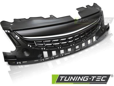 Решётка радиатора от Tuning-Tec Matt Black на Opel Corsa D рестайл
