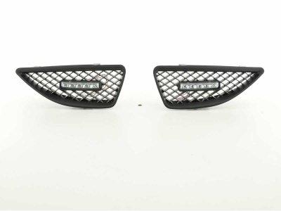 Решётка радиатора от FK Automotive Black с DRL на Renault Megane I