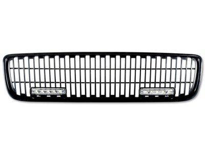 Решётка радиатора Black с DRL от FK Automotive на Volvo V70