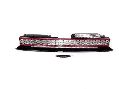 Решётка радиатора Black Red от JOM на Volkswagen Golf VI