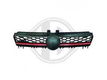 Решётка радиатора от HD GTI Look Black Red на VW Golf VII